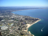 View of Monterey Bay from above Santa Cruz.