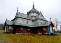 Hutsul church uses tin to decorate and preserve the wood.