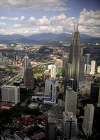 View of the Petronas Towers from the KL Tower